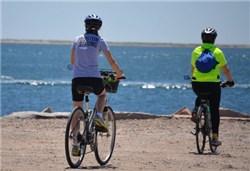 夏の海をサイクリング
