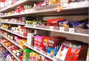 スーパーの陳列棚